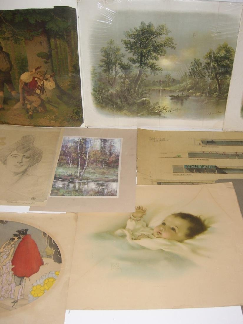 Collection of 35 etchings, engravings, lithographs - 5