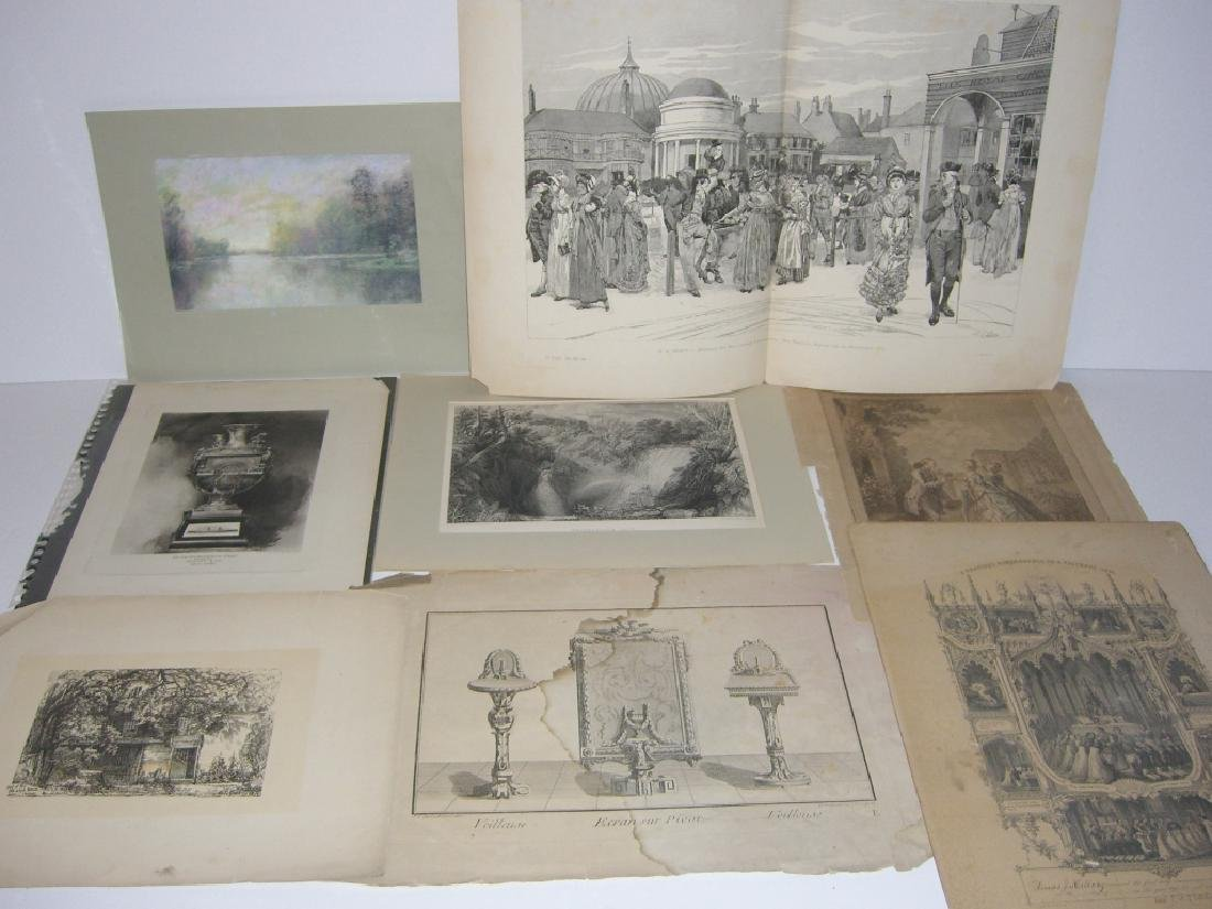Collection of 35 etchings, engravings, lithographs - 7