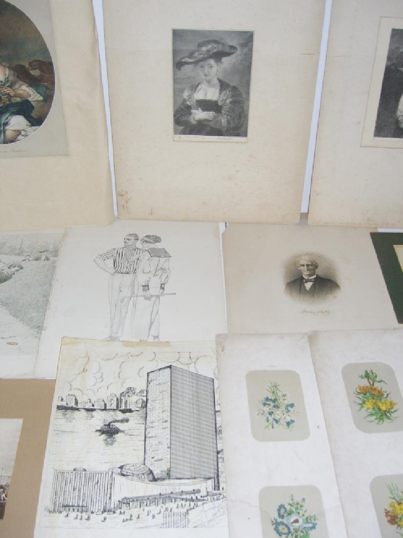 Collection of 35 etchings, engravings, lithographs - 9