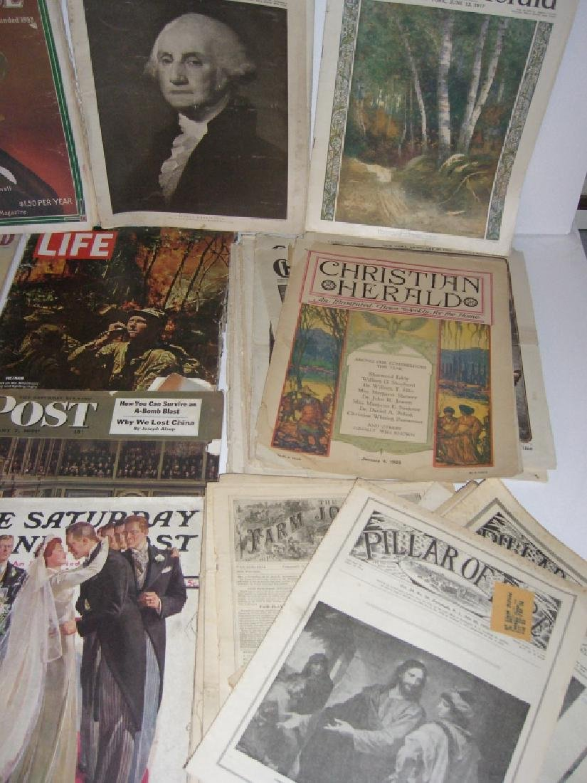 Collection of 64 vintage magazines, newspapers - 2