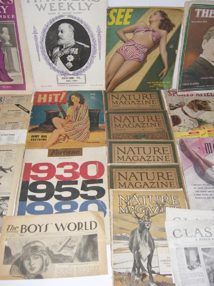 Collection of 64 vintage magazines, newspapers - 4