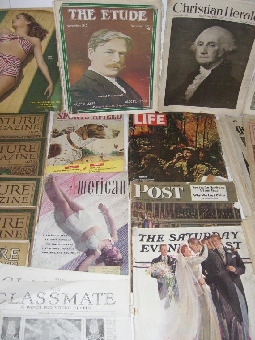 Collection of 64 vintage magazines, newspapers - 5