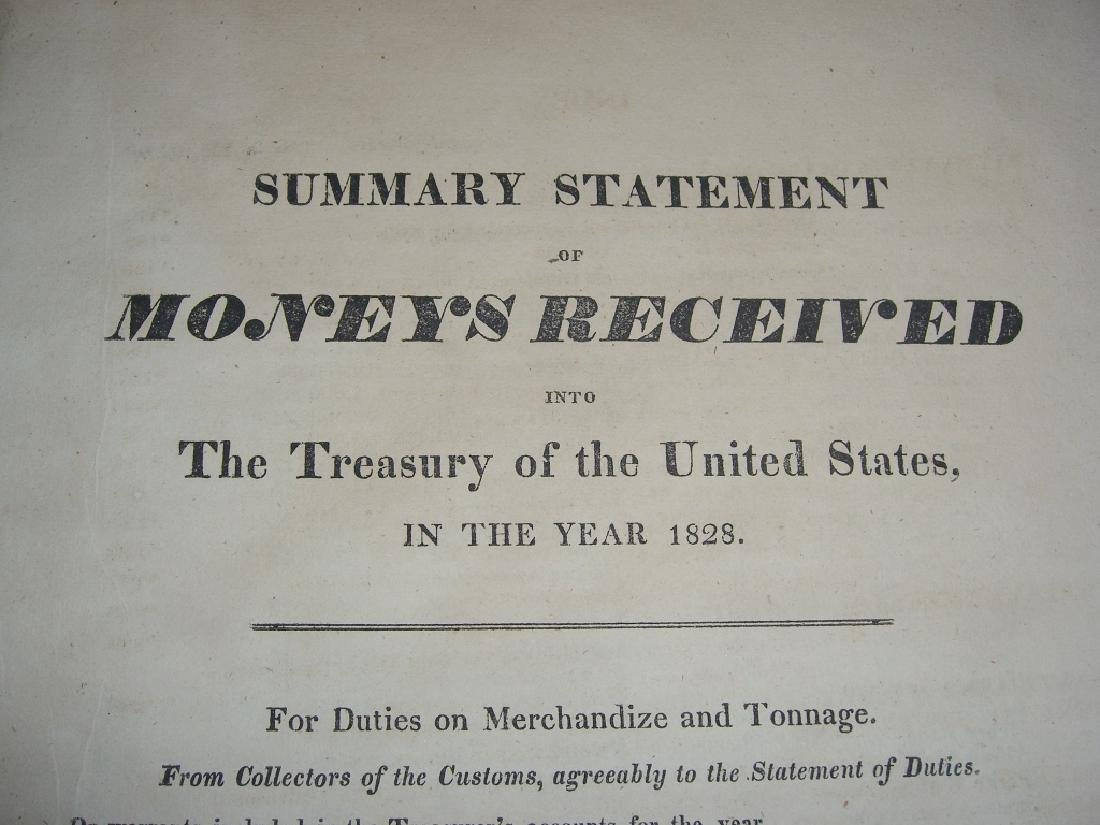 Treasury of the United State of America book 1828 - 3