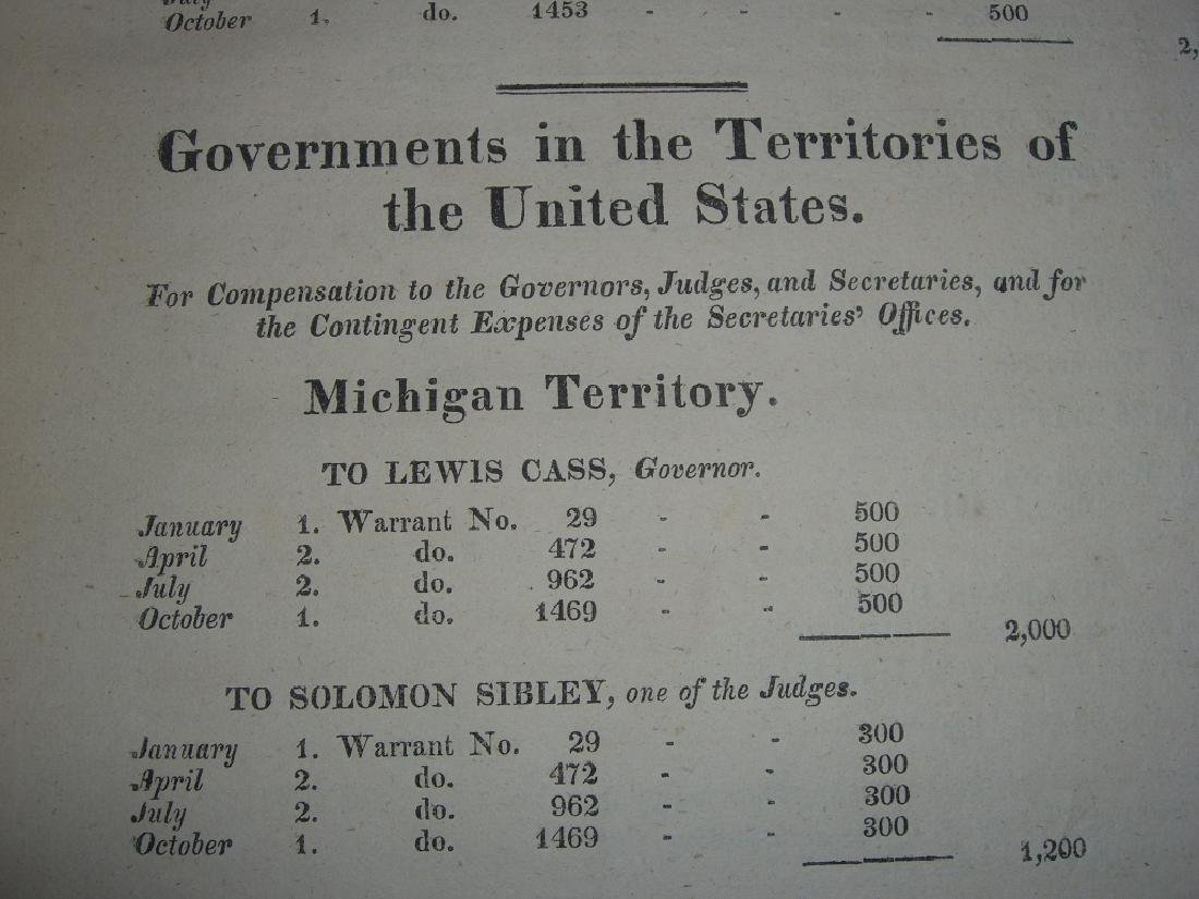 Treasury of the United State of America book 1828 - 4