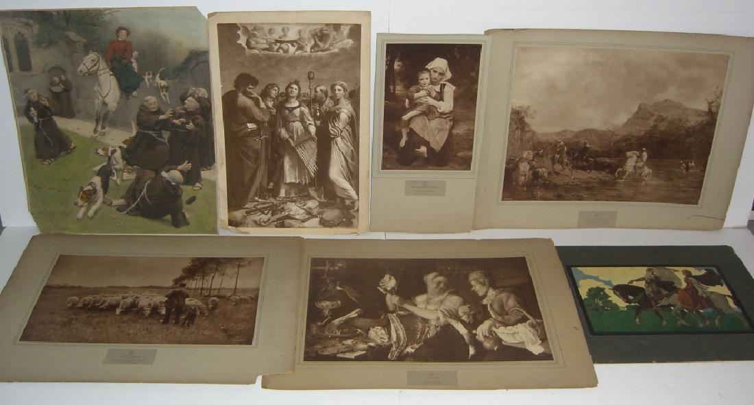 7 vintage prints/chromolithograph