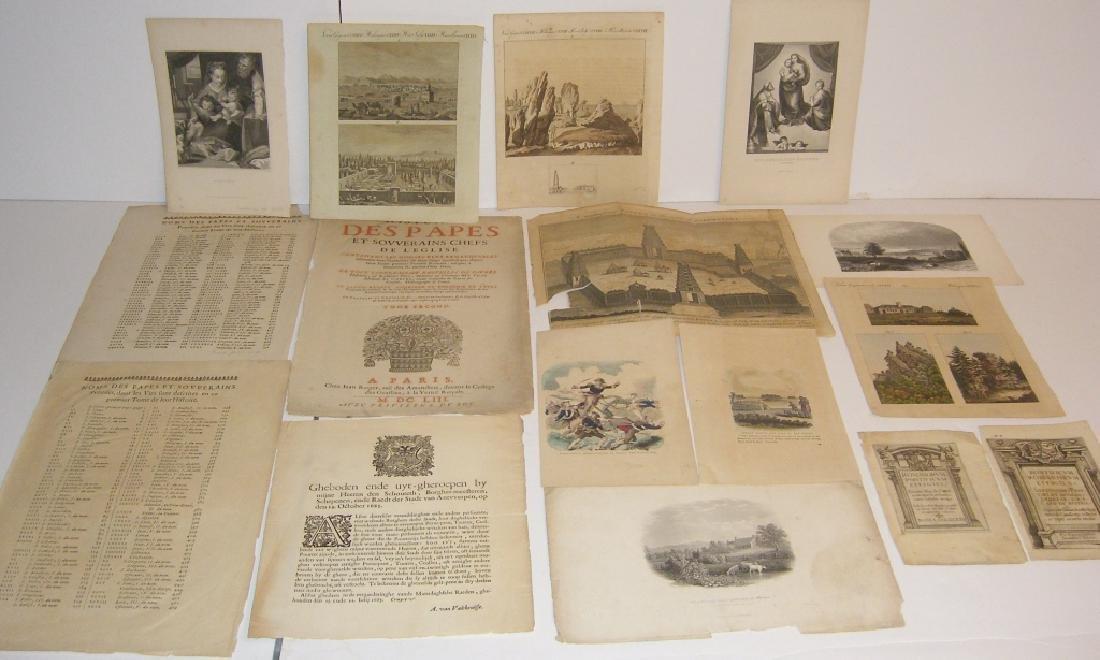 16 18th/19th century engravings/etchings