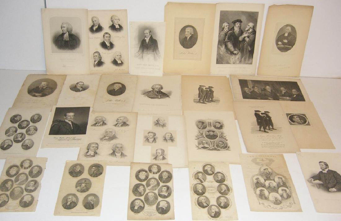 25 18th/19th century portrait engravings/etchings