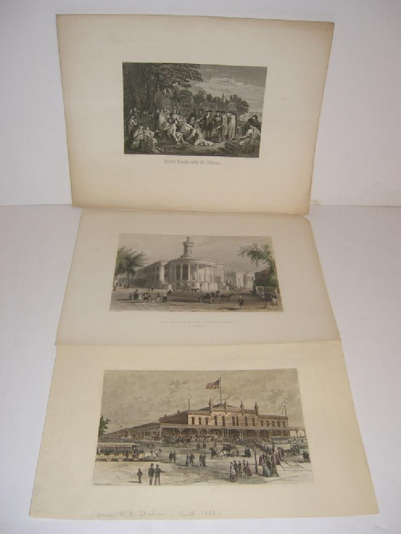 3 18th/19th century engravings/etchings