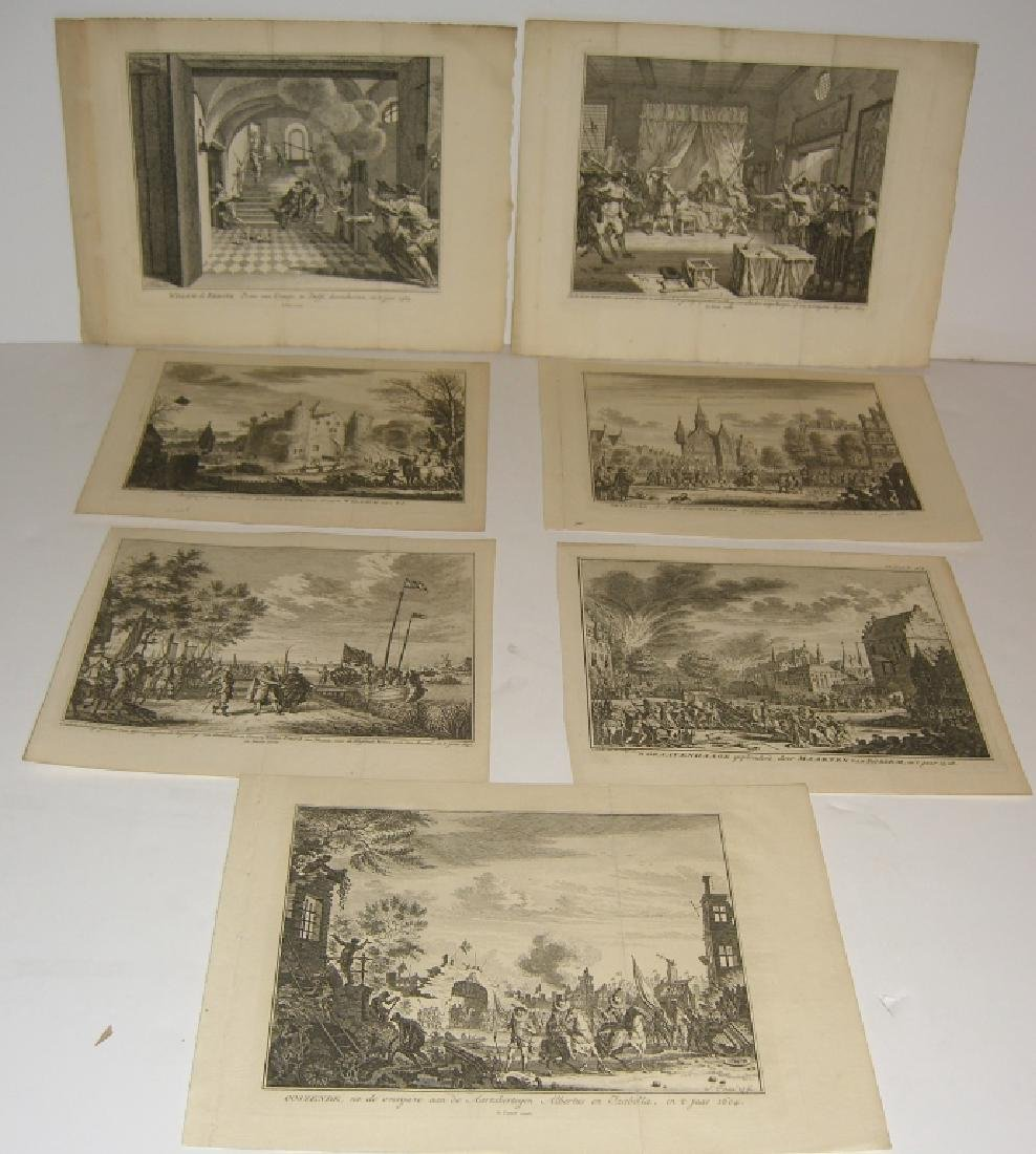 7 18th century engravings/etchings
