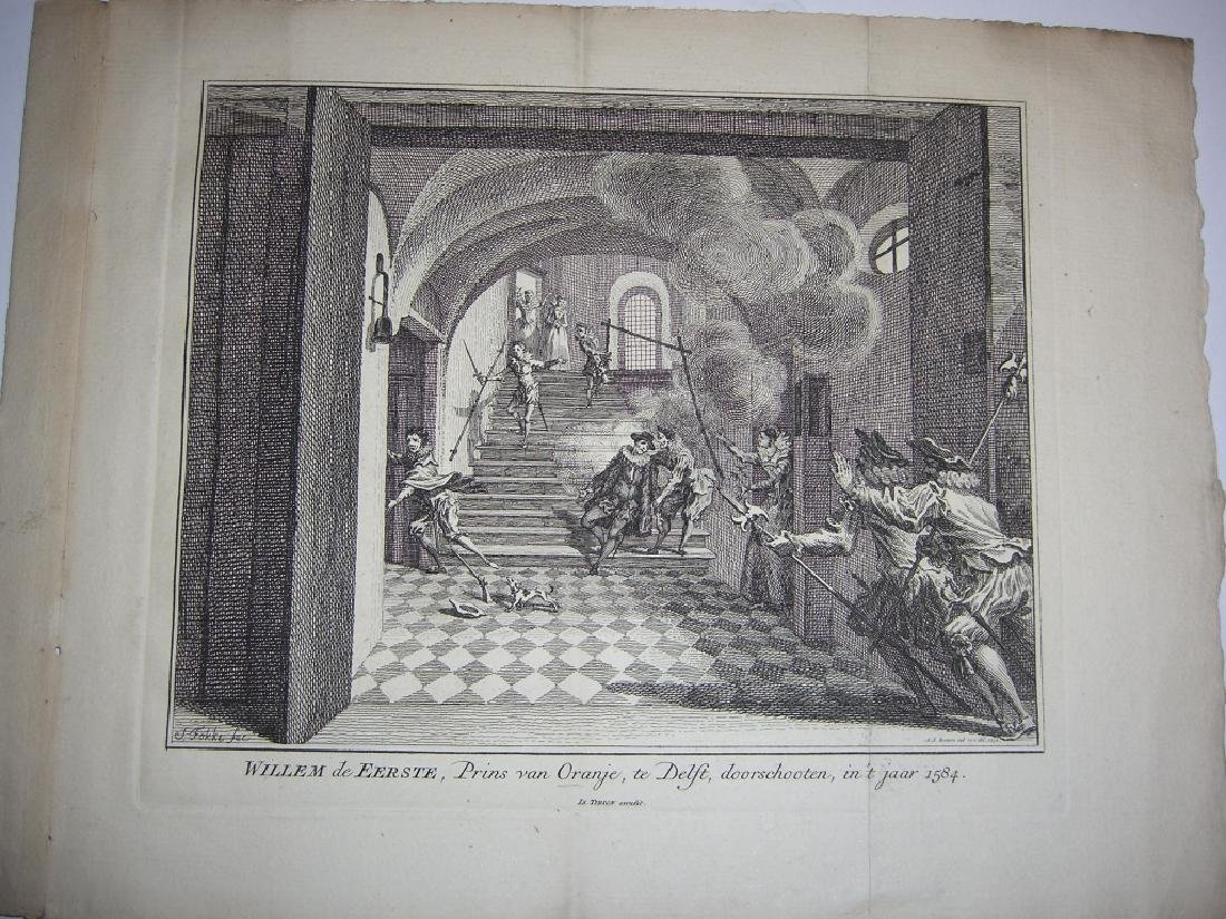 7 18th century engravings/etchings - 6