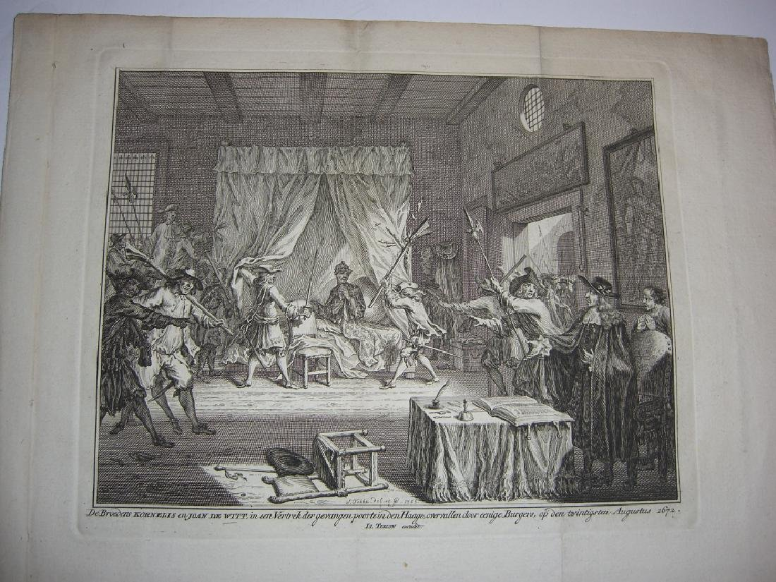 7 18th century engravings/etchings - 7