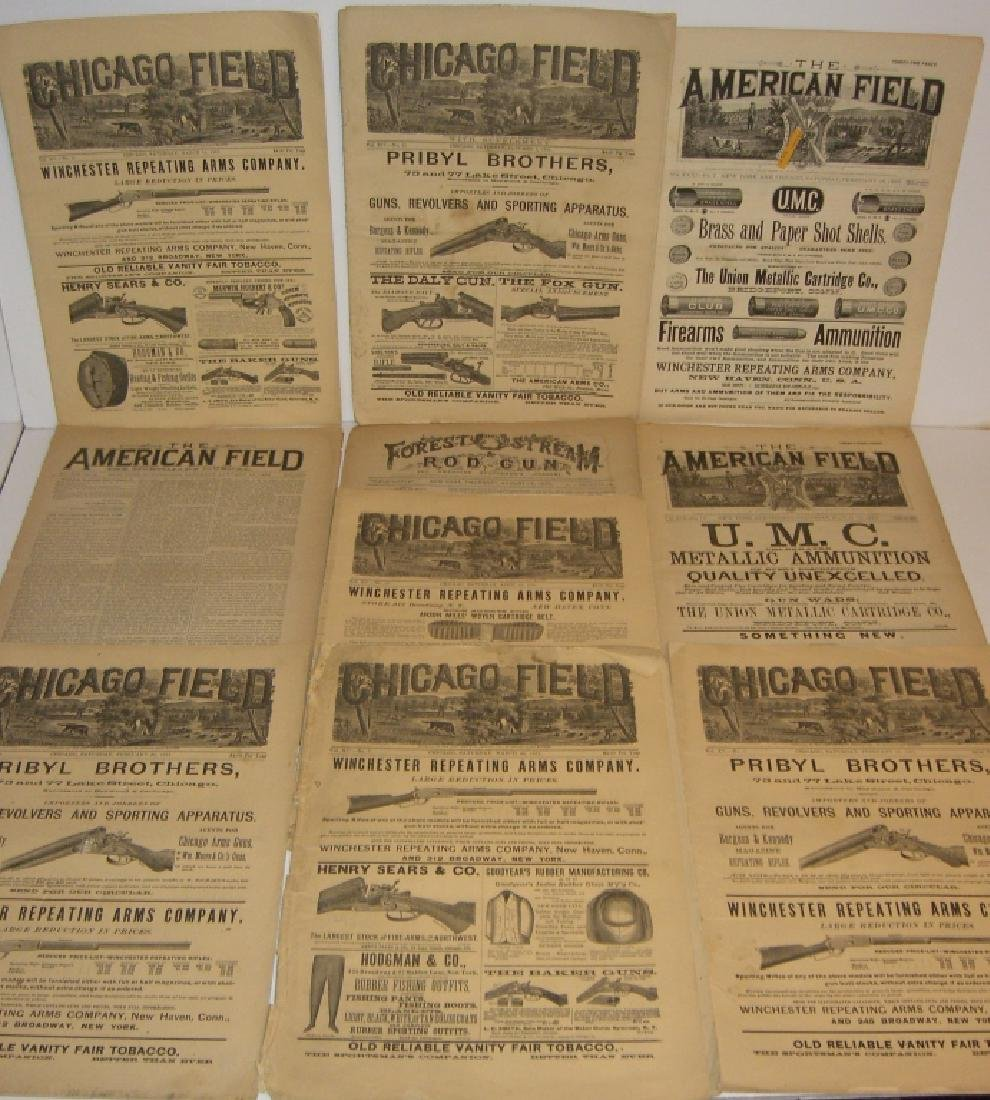 10 1800s SPORTING/HUNTING/FISHING NEWSPAPERS