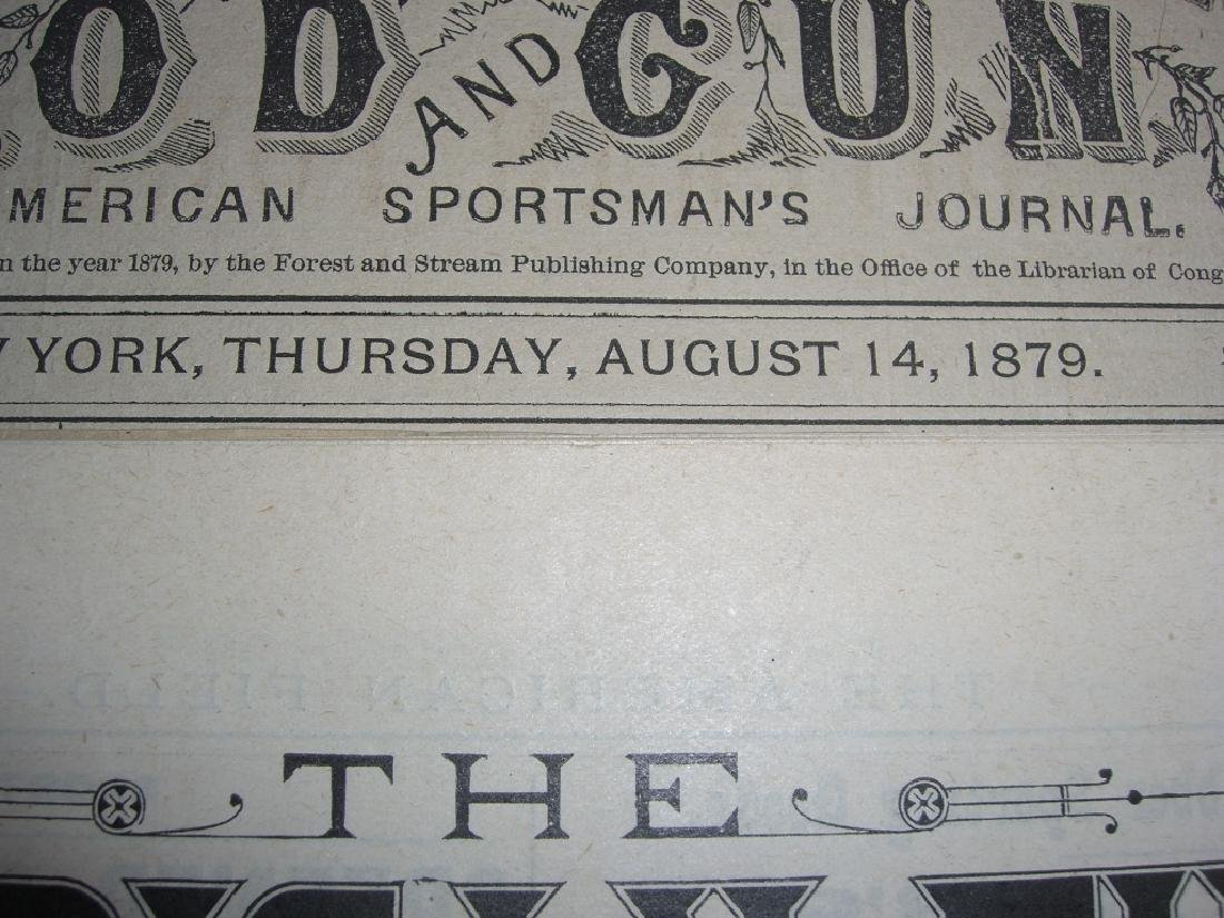 10 1800s SPORTING/HUNTING/FISHING NEWSPAPERS - 2