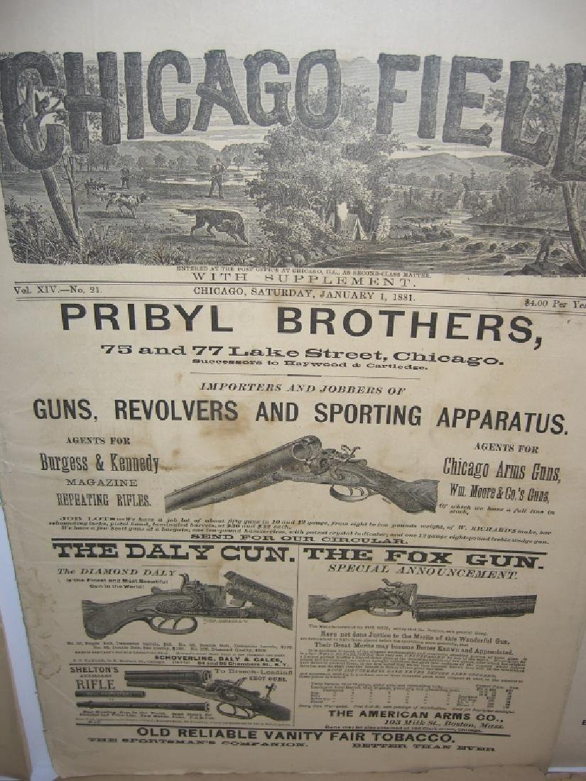 10 1800s SPORTING/HUNTING/FISHING NEWSPAPERS - 5