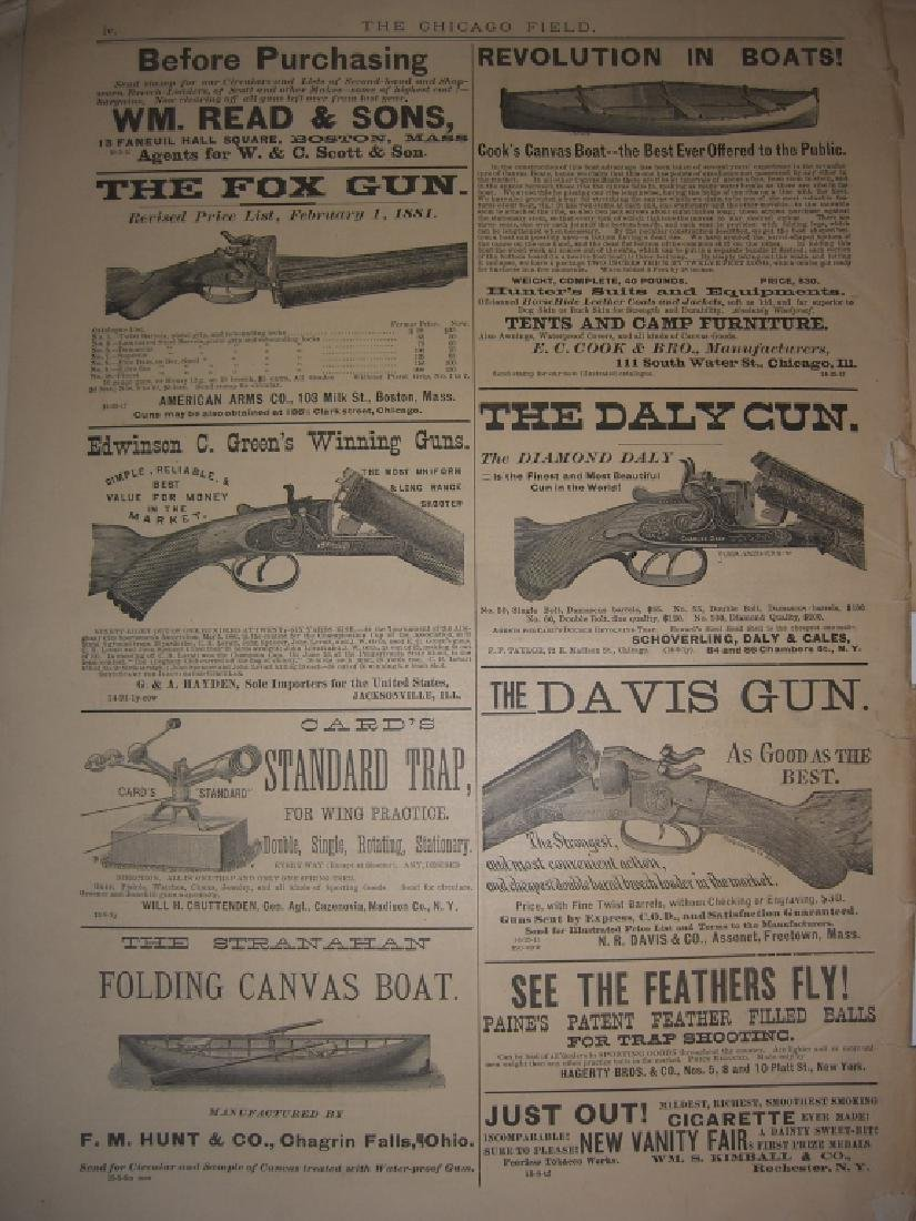 10 1800s SPORTING/HUNTING/FISHING NEWSPAPERS - 8