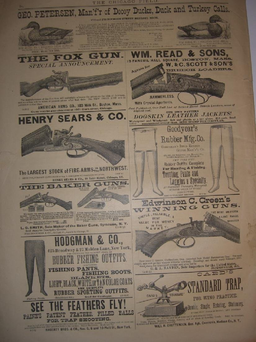 10 1800s SPORTING/HUNTING/FISHING NEWSPAPERS - 9