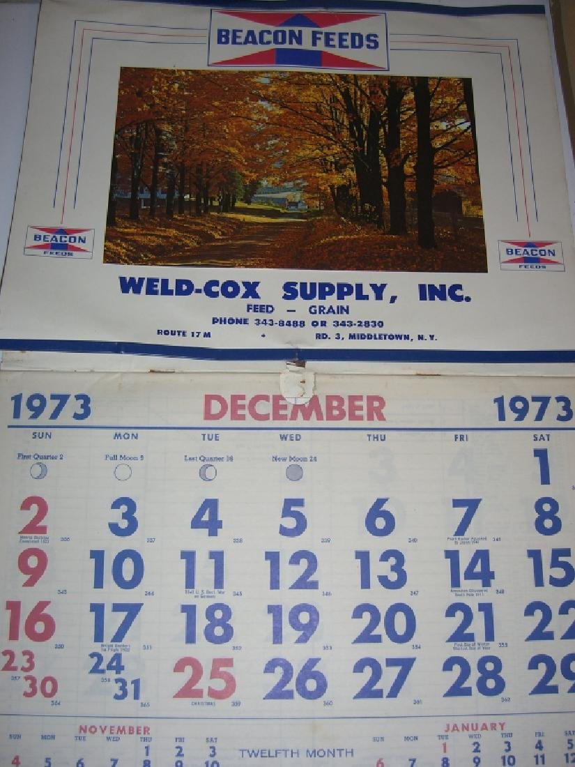 10 vintage advertising calendars - 5