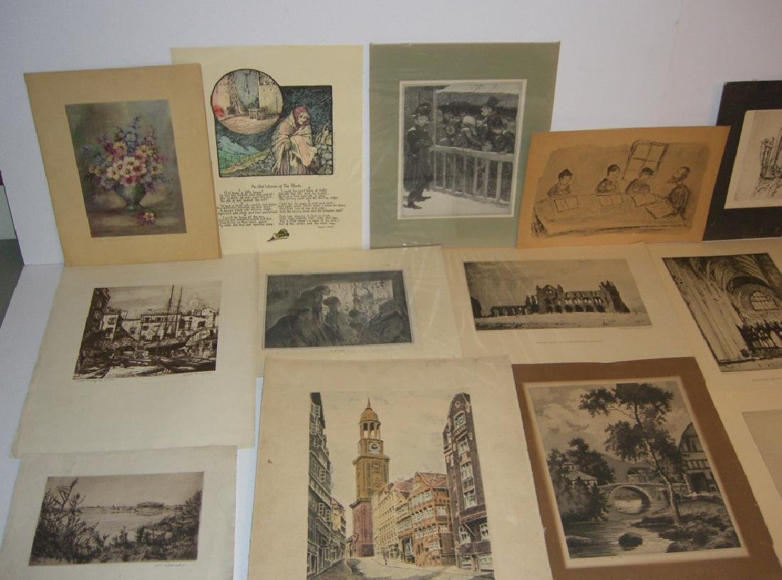 40 vintage etching engravings, lithographs, prints - 2