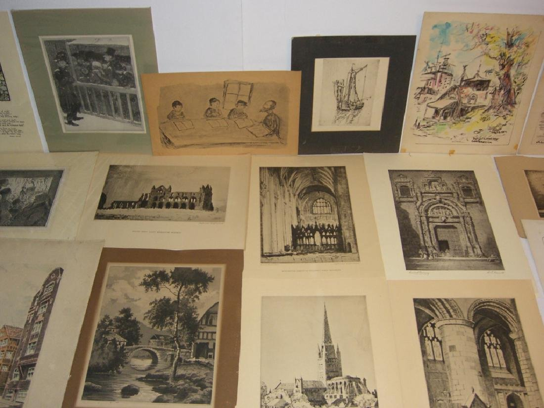 40 vintage etching engravings, lithographs, prints - 5