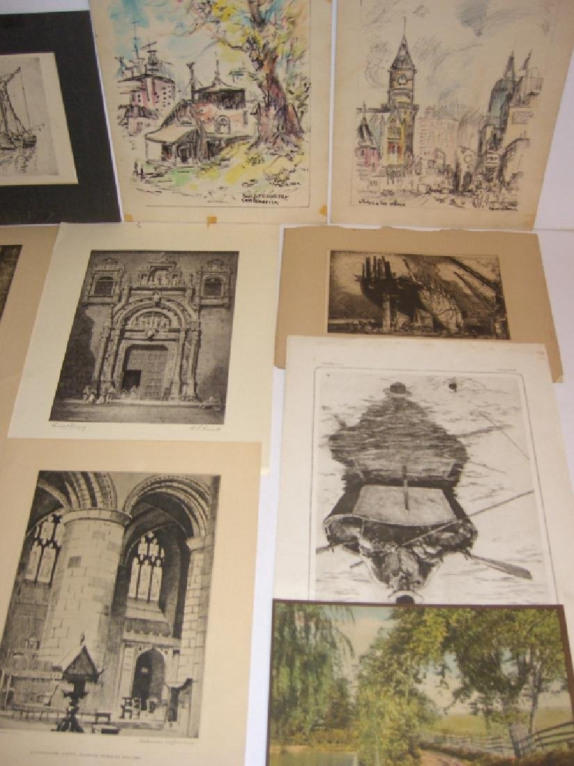 40 vintage etching engravings, lithographs, prints - 7