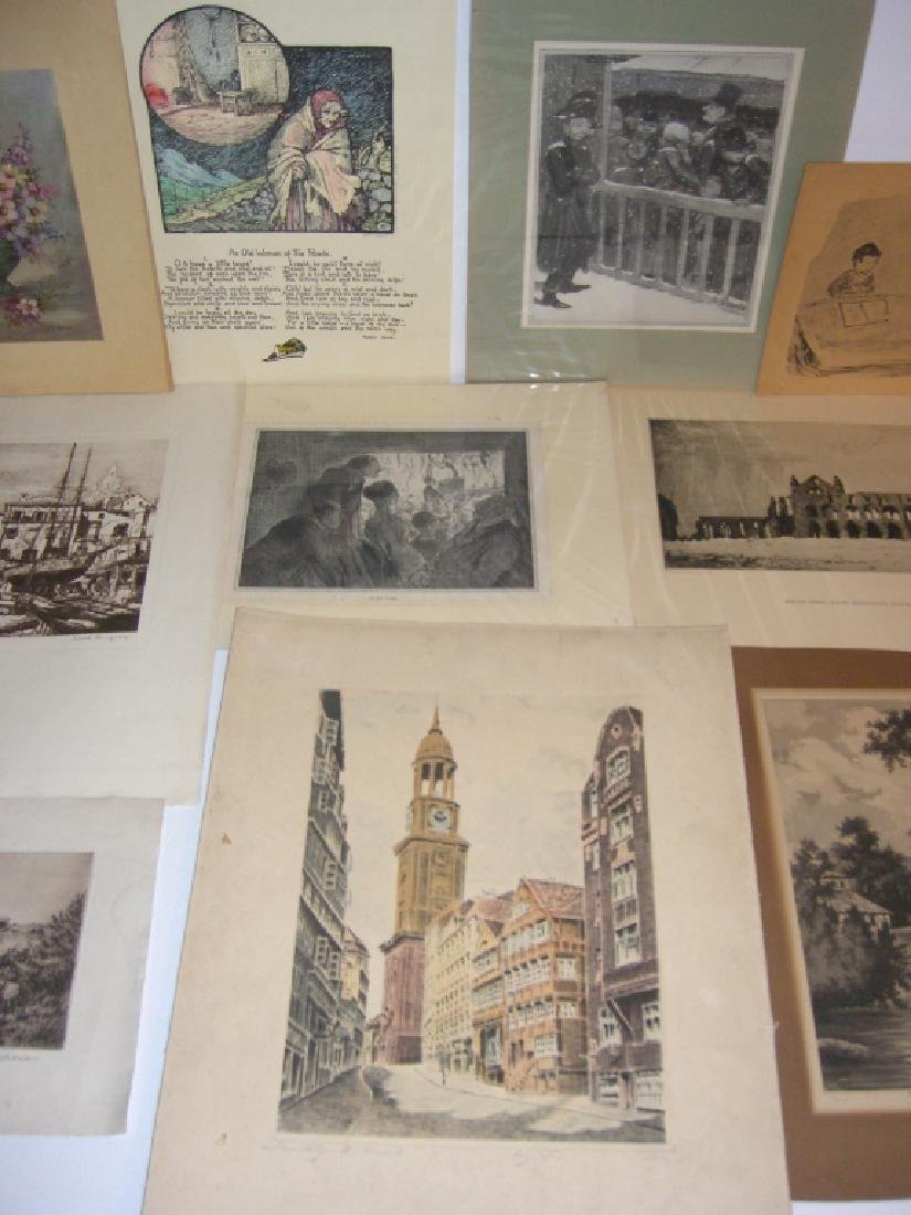 40 vintage etching engravings, lithographs, prints - 8