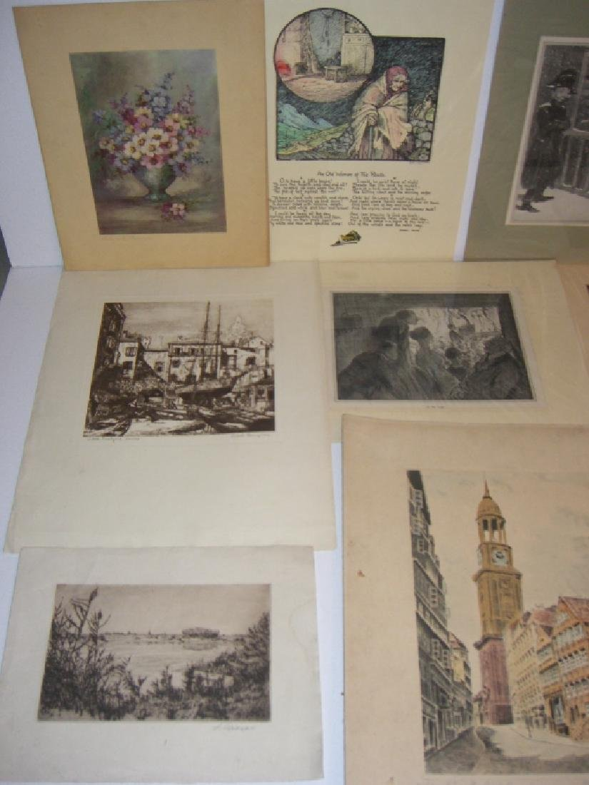 40 vintage etching engravings, lithographs, prints - 9