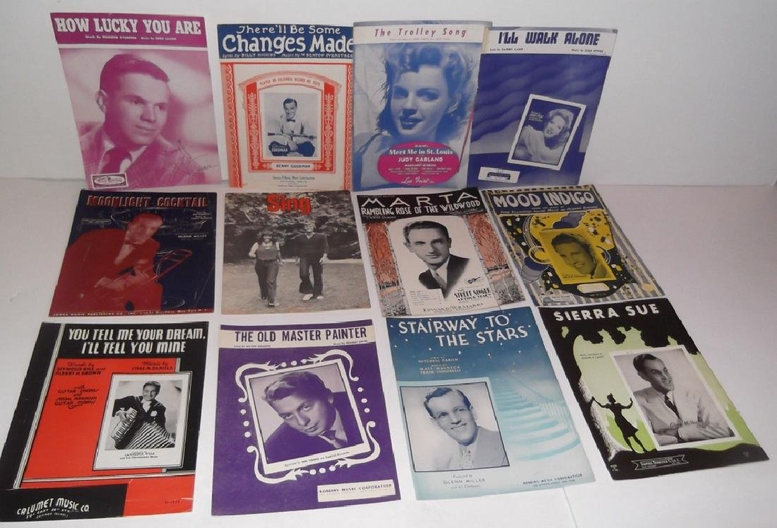 34 PIECES SHEET MUSIC LOT SINATRA BENNET  SMITH - 10