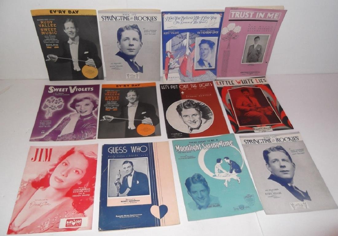 34 PIECES SHEET MUSIC LOT SINATRA BENNET  SMITH - 2
