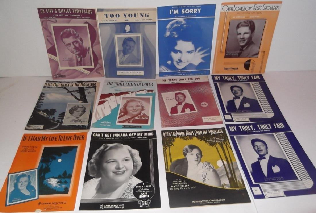 34 PIECES SHEET MUSIC LOT SINATRA BENNET  SMITH - 7