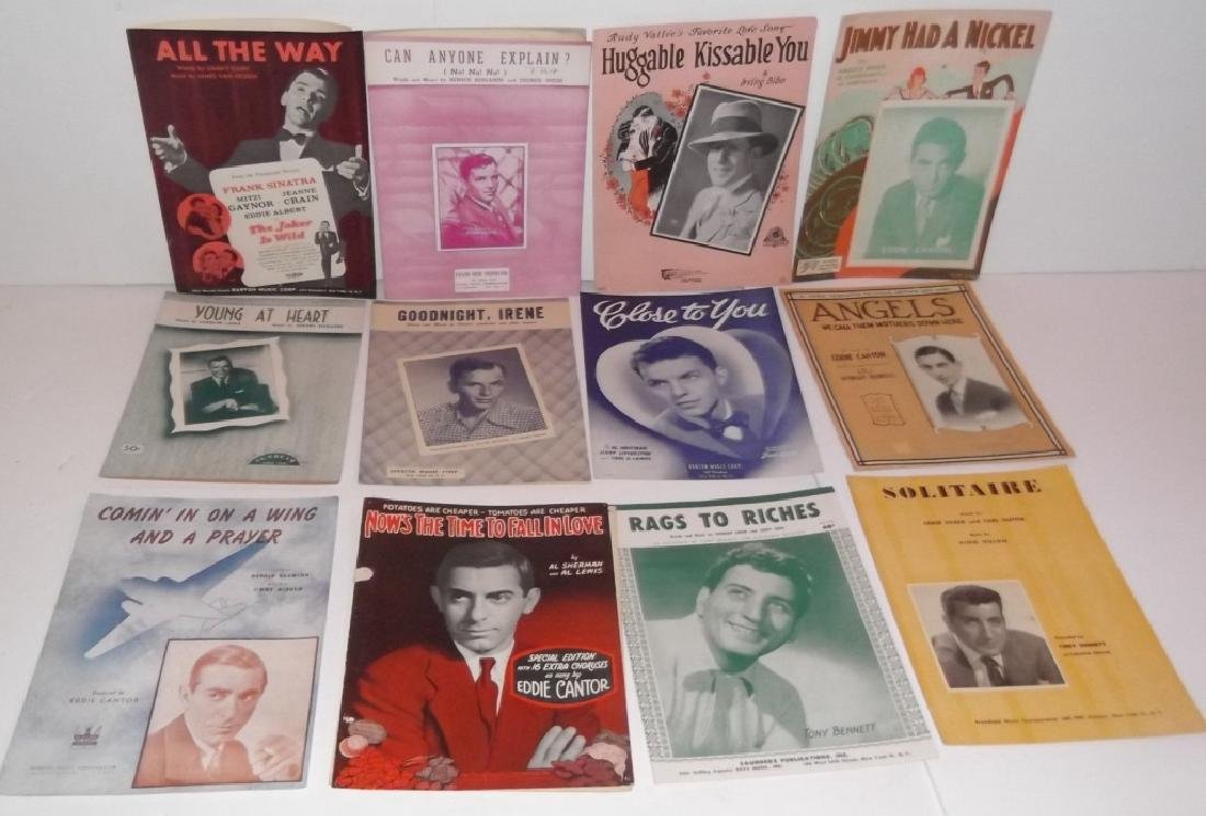 34 PIECES SHEET MUSIC LOT SINATRA BENNET  SMITH - 8