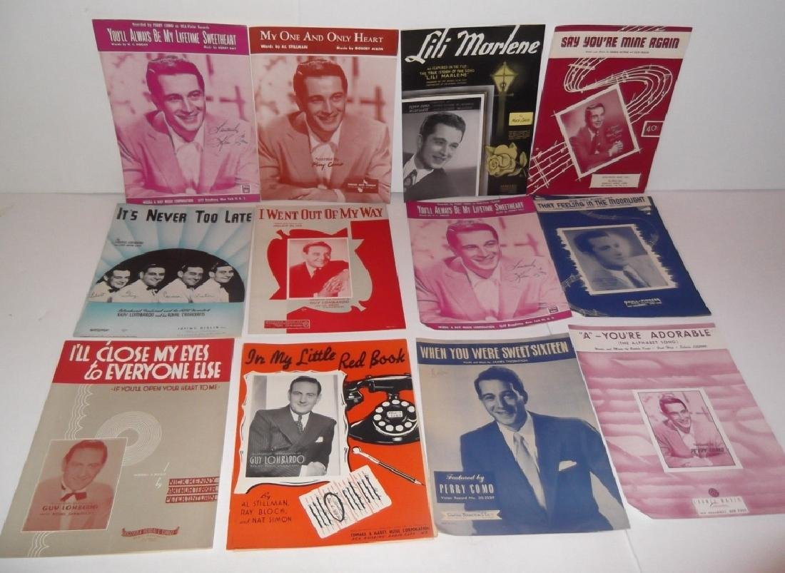 34 PIECES SHEET MUSIC LOT SINATRA BENNET  SMITH - 9