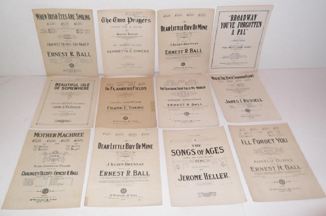 78 PIECE ASSORTED SHEET MUSIC LOT TURN OF THE CENT