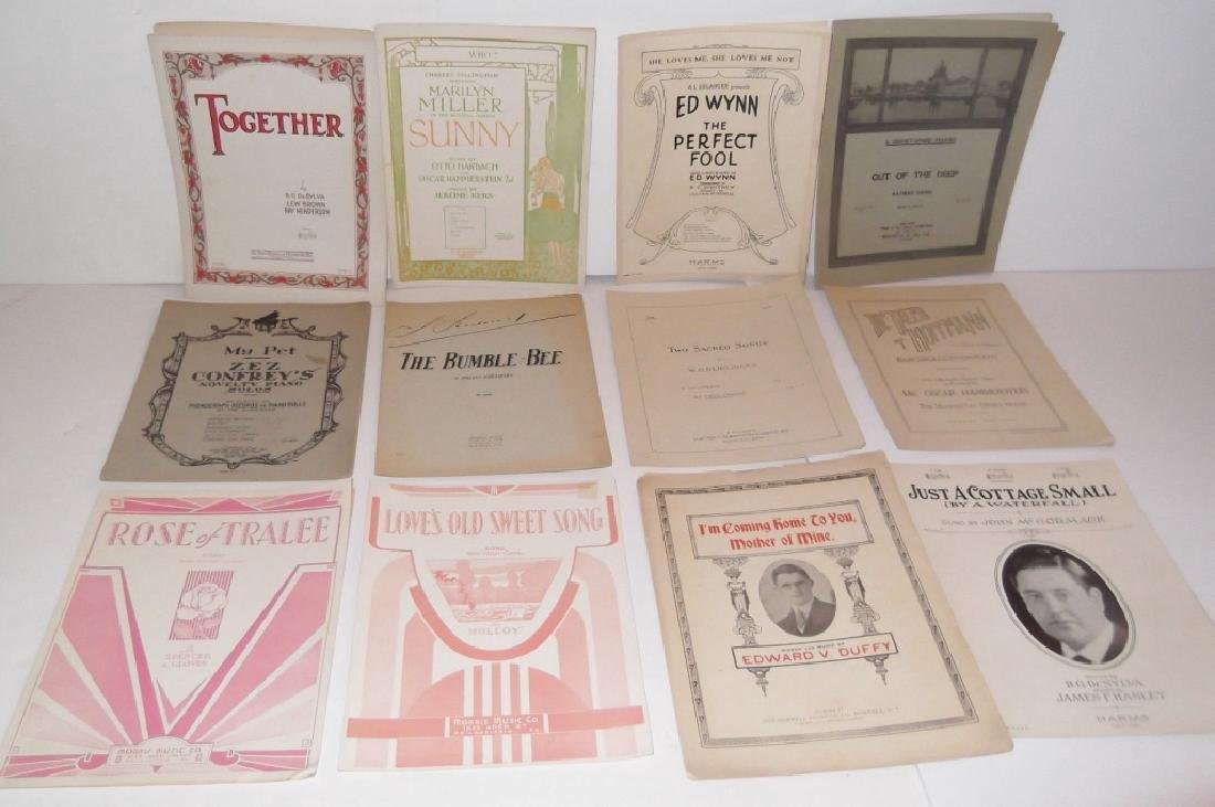 78 PIECE ASSORTED SHEET MUSIC LOT TURN OF THE CENT - 2