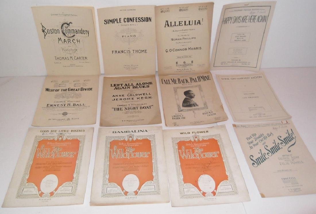 78 PIECE ASSORTED SHEET MUSIC LOT TURN OF THE CENT - 6
