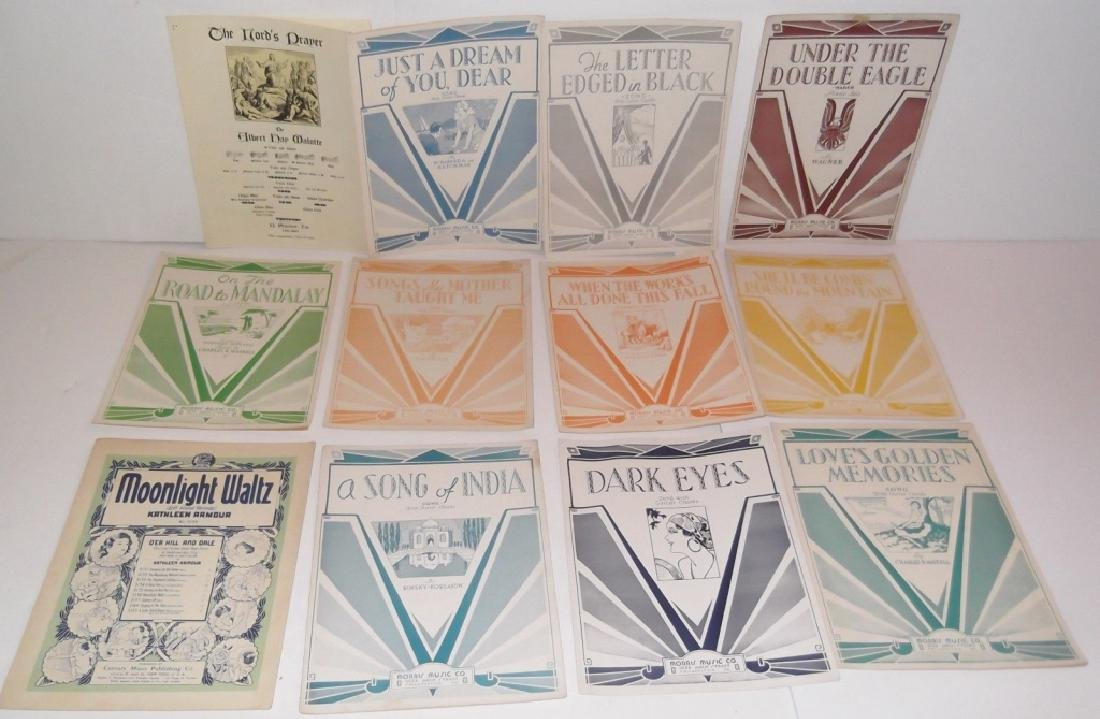 78 PIECE ASSORTED SHEET MUSIC LOT TURN OF THE CENT - 7