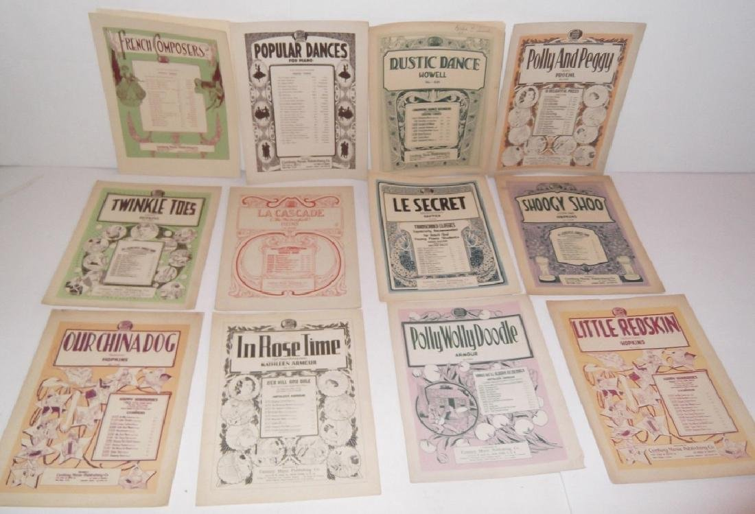 78 PIECE ASSORTED SHEET MUSIC LOT TURN OF THE CENT - 8