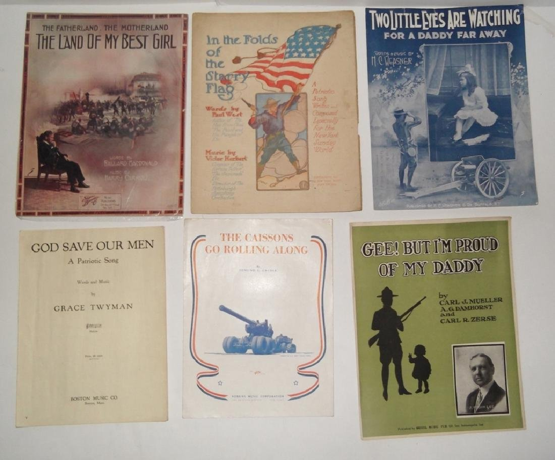 28 MILITARY SHEET MUSIC LOT - 10