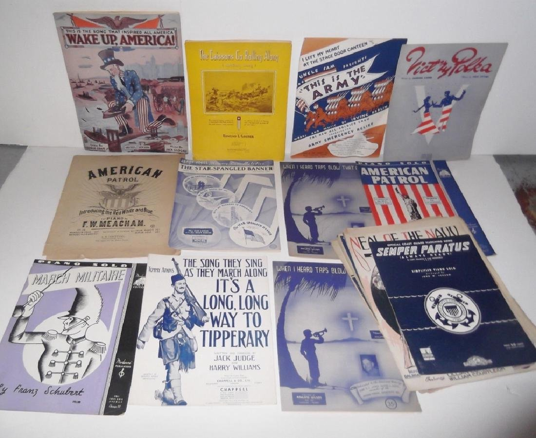 28 MILITARY SHEET MUSIC LOT