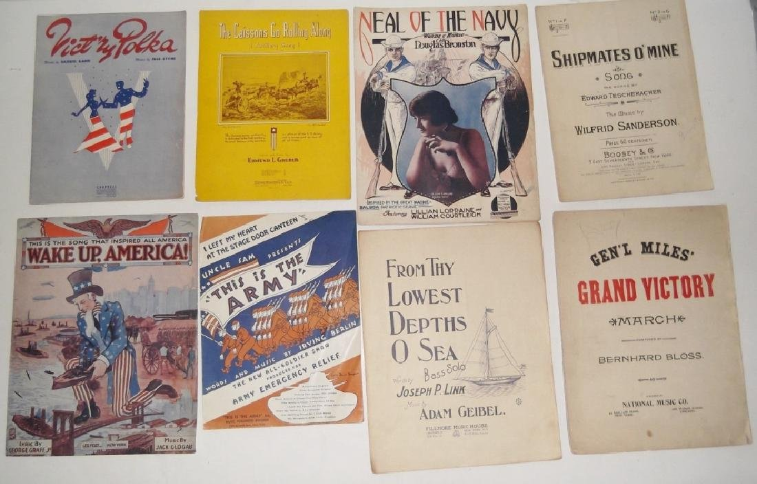 28 MILITARY SHEET MUSIC LOT - 3