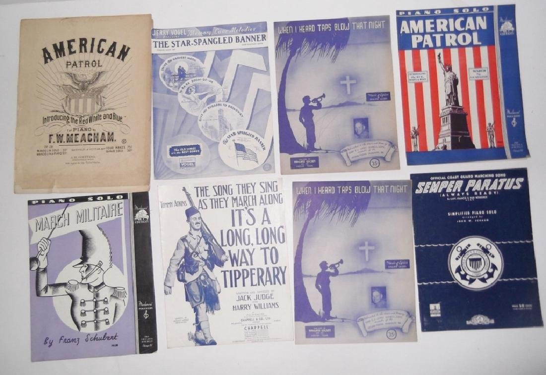 28 MILITARY SHEET MUSIC LOT - 7