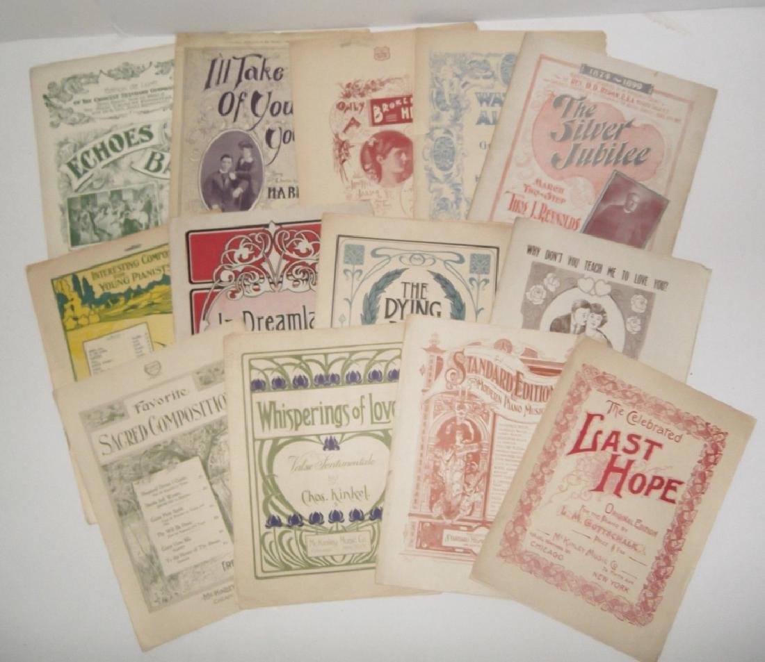 13 VINTAGE ORIGINAL SHEET MUSIC LOT