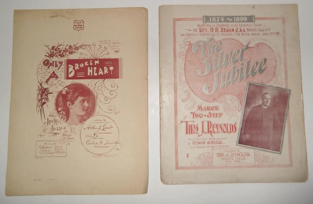 13 VINTAGE ORIGINAL SHEET MUSIC LOT - 7