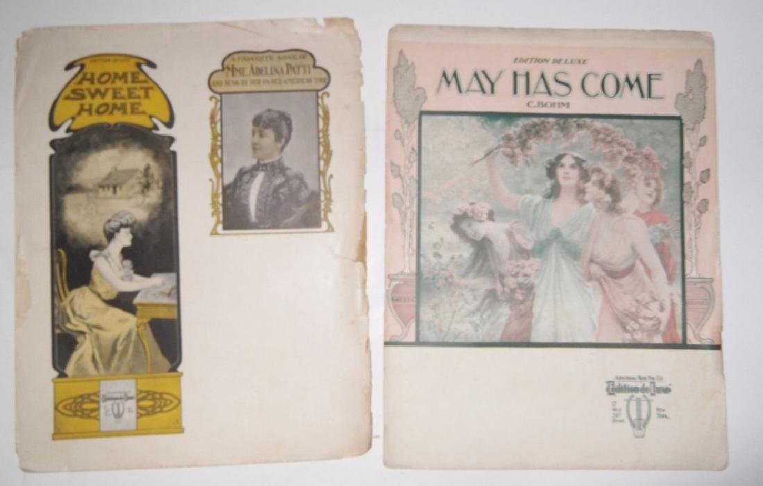 10 VINTAGE ORIGINAL SHEET MUSIC LOT DE LUXE MUSIC - 2