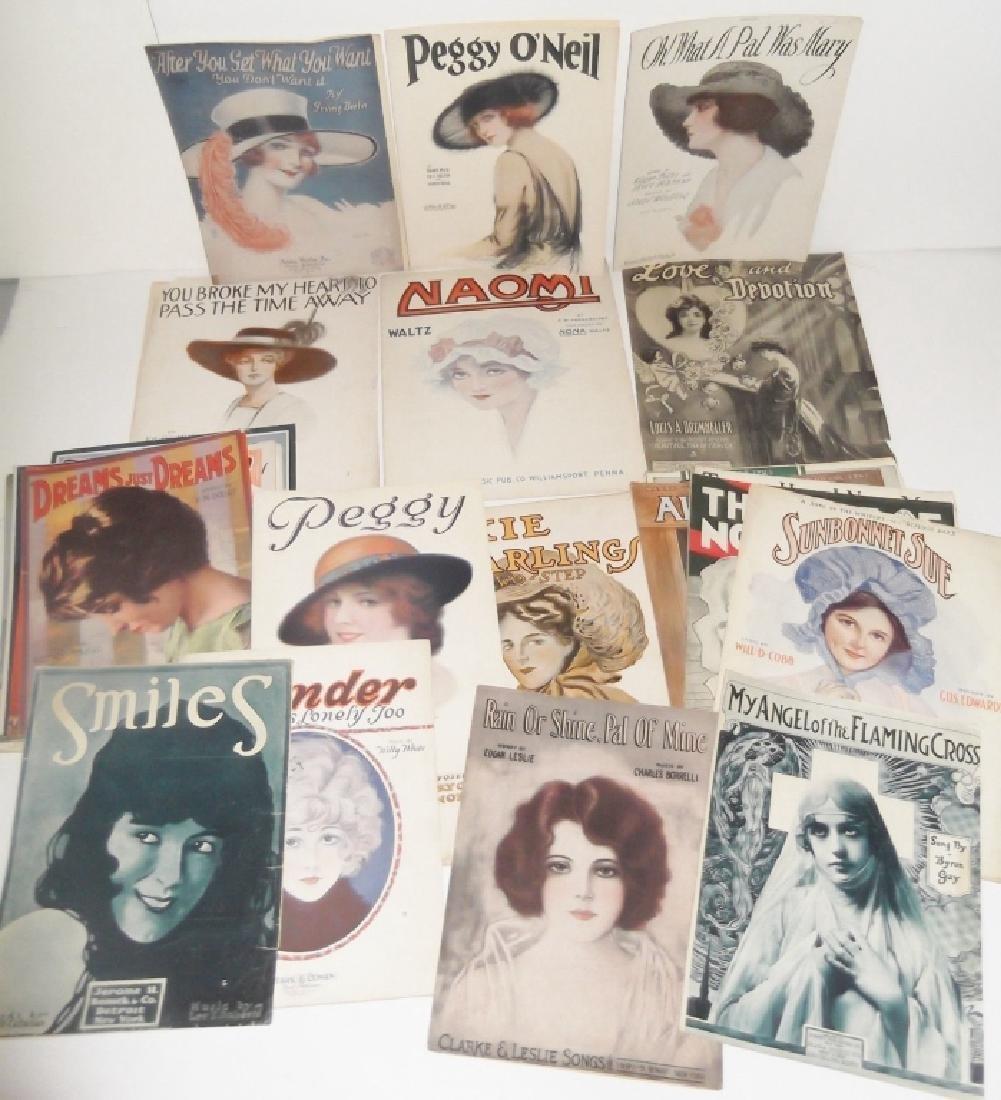 37 ORIGINAL VINTAGE SHEET MUSIC LOT EARLY 1900s