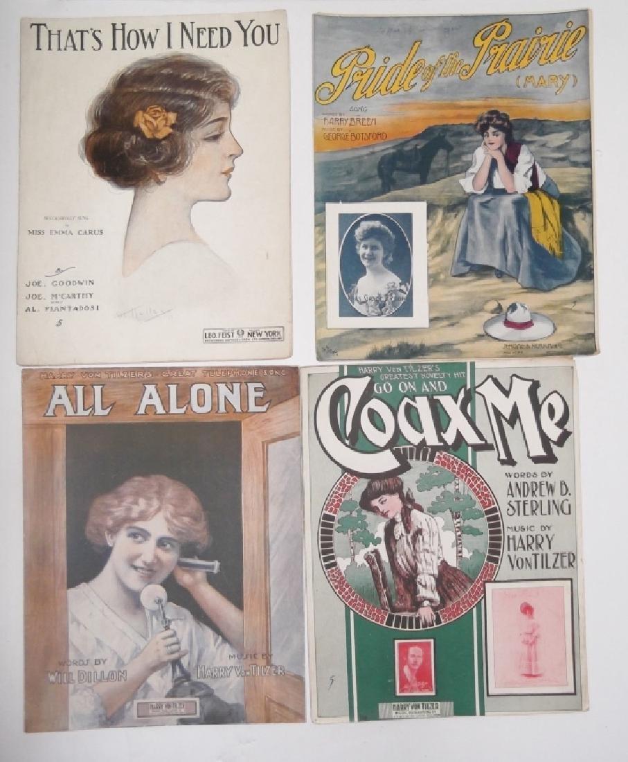 37 ORIGINAL VINTAGE SHEET MUSIC LOT EARLY 1900s - 2