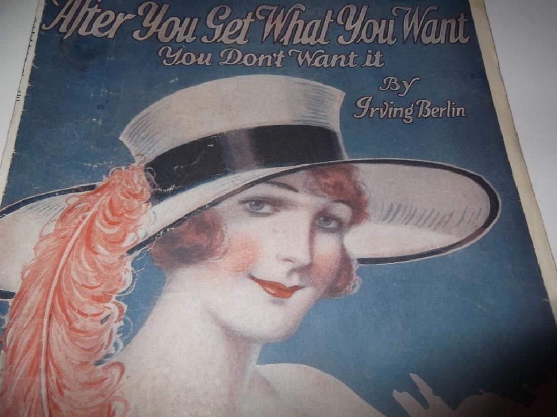 37 ORIGINAL VINTAGE SHEET MUSIC LOT EARLY 1900s - 3