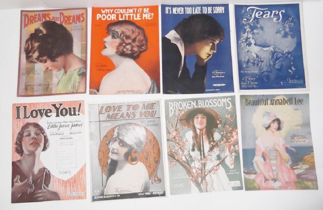 37 ORIGINAL VINTAGE SHEET MUSIC LOT EARLY 1900s - 4