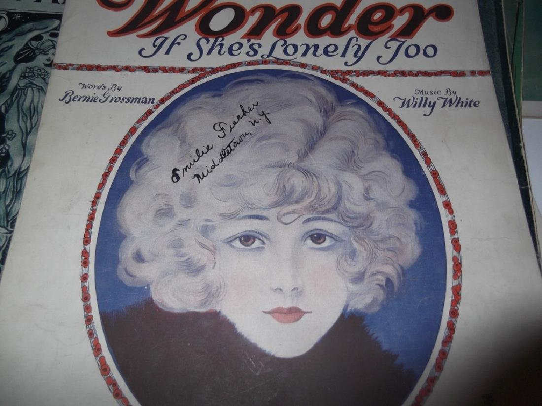 37 ORIGINAL VINTAGE SHEET MUSIC LOT EARLY 1900s - 5