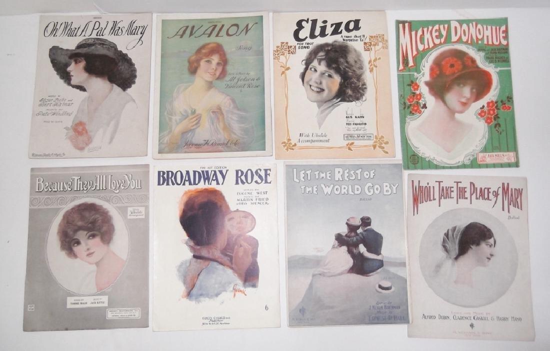 37 ORIGINAL VINTAGE SHEET MUSIC LOT EARLY 1900s - 6