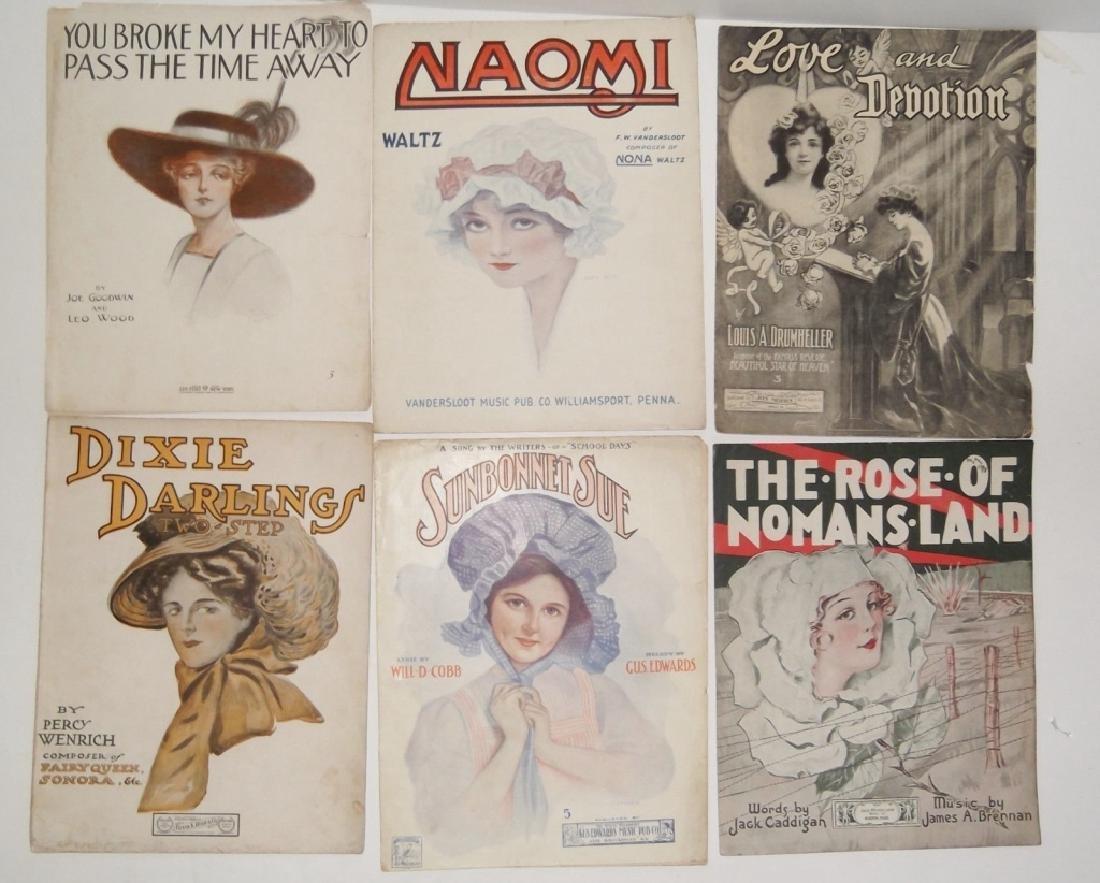37 ORIGINAL VINTAGE SHEET MUSIC LOT EARLY 1900s - 7